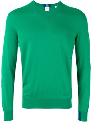 Paul Smith V Neck Jumper Men Cotton L Green
