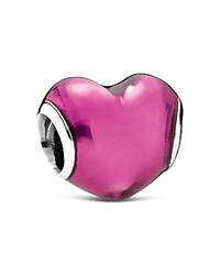 Pandora Design Pandora Charm Sterling Silver And Murano Glass In My Heart Moments Collection Pink