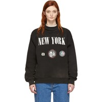 Alexander Wang Black 'New York' Souvenir Turtleneck