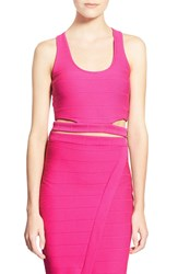 Missguided Bandage Crop Top Pink