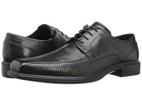 Ecco Johannesburg Perforated Tie Black Men's Lace Up Bicycle Toe Shoes