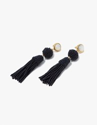 Lizzie Fortunato Havana Earrings In Navy