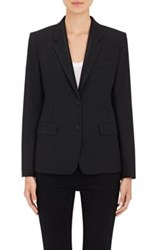 Helmut Lang Women's Stretch Wool Two Button Blazer Black