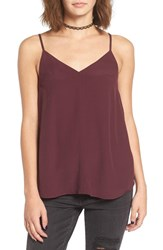 Women's Bp. Double V Camisole Burgundy Stem