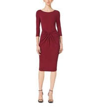 Michael Kors Matte Jersey Twist Dress Claret