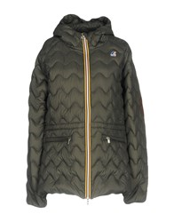 K Way Down Jackets Military Green