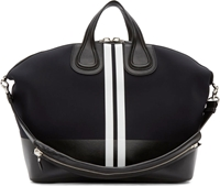 Givenchy Black Neoprene Striped Nightingale Bag