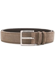Orciani Square Buckle Belt Neutrals