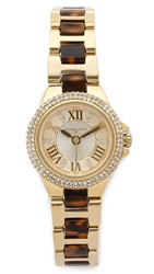 Michael Kors Petite Camille Watch Gold Tortoise