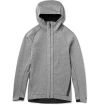 Nike Cotton Blend Jersey Zip Up Hoodie Gray