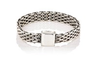 Title Of Work Men's Micro Mesh Band Silver
