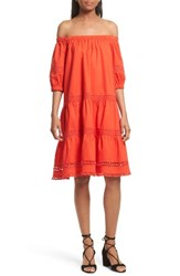 Kate Spade Women's New York Off The Shoulder Poplin Dress