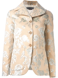 Rochas Jacquard Blazer Nude And Neutrals
