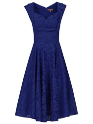 Jolie Moi Crossover Bust Ruched Prom Dress Royal Blue
