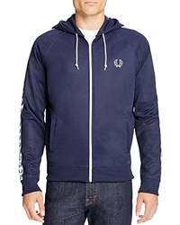 Fred Perry Long Sleeve Hoodie Carbon Blue