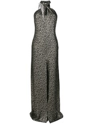 Lanvin Crystal Embellished Dress Silk Polyester Crystal Brass Black