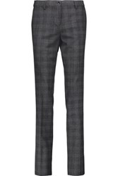 Etro Herringbone Stretch Wool Slim Leg Pants Dark Gray