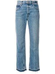 Helmut Lang Cropped Jeans Blue