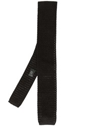 Dolce And Gabbana Knitted Tie Black