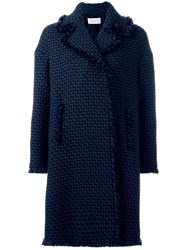 Gianluca Capannolo Single Breasted Coat Blue
