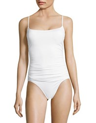 Anne Cole Solid Shirred One Piece