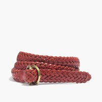 Madewell Medium Leather Braided Belt