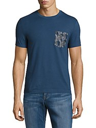 Original Penguin Floral Camp Pocket Tee Dark Denim