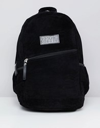 Systvm Backpack In Black Faux Suede