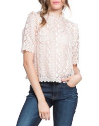Plenty By Tracy Reese Scallop Trim Lace Blouse Sweet Cream