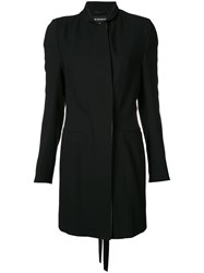 Ann Demeulemeester Lightweight Coat Women Cotton Wool 40 Black