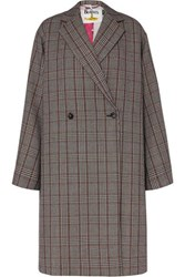 Stella Mccartney The Beatles Oversized Prince Of Wales Checked Wool Coat Black
