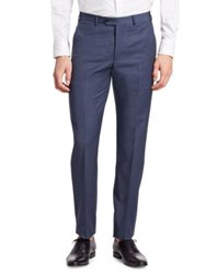 Emporio Armani Wool Dress Pants Prussian Blue