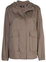 Theory Cargo Military Jacket Brown