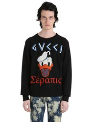 Gucci Donald Duck Patch Cotton Sweatshirt
