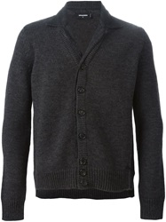 Dsquared2 Spread Collar Cardigan Grey