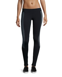 Solow Contrast Panel Leggings Black Gray