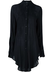 Lost And Found Ria Dunn Mandarin Collar Shirt Black