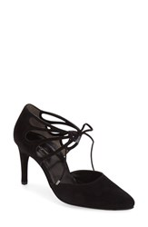 Paul Green Women's 'Justeen' Ghillie D'orsay Pump Black Suede