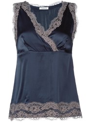 P.A.R.O.S.H. Lace Detail Top Blue