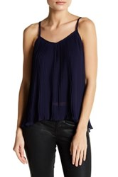 14Th And Union Nova Chiffon Pleated Cami Petite Blue