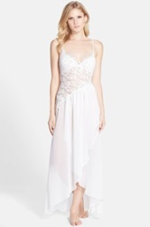 Jonquil 'Raquel' Lace And Chiffon Nightgown White