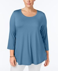 Jm Collection Plus Size Swing Top Only At Macy's Quiet Harbor