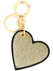 Burberry Sequined Heart Keyring Black