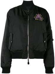 Givenchy Reversible Bomber Jacket With Evil Eye Embroidery Polyamide Polyester Viscose Wool Black