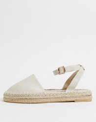 New Look 2 Part Espadrille Flat Shoes In White