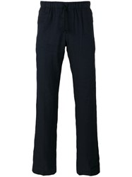 Dries Van Noten Relaxed Fitting Trouser With Drawstring Waist Blue