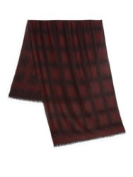 Lanvin Ombre Scarf Burgundy