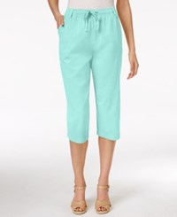Karen Scott Drawstring Capri Pants Only At Macy's Island Sky