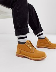 Timberland Nellie Chukka Wheat Leather Ankle Boots Beige