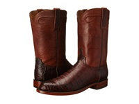 Lucchese Waller Barrel Brown Cowboy Boots